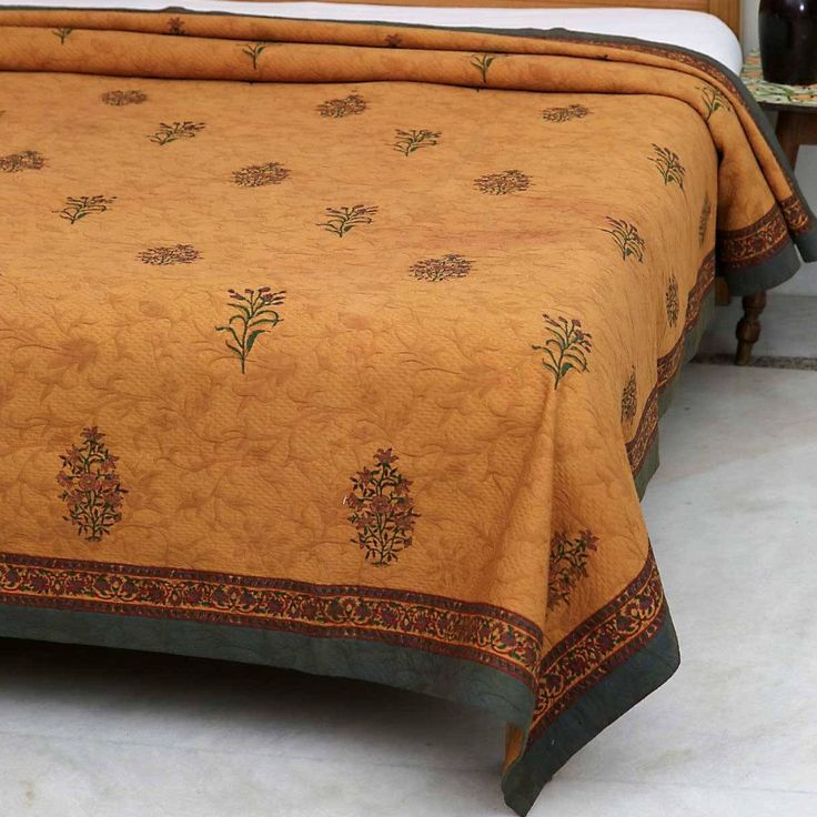Gold Matelasse Jacquard Loomed on Print Fabric Bedspread - 90x108in  #thehomeevolution #home #abudhabi #homeandgarden #homesweethome #homedecor #decorativepillows #unitedarabemirates #new #eidaladha