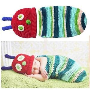 NEU-Baby-Fotoshooting-Kostuem-Raupe-Nimmersatt-0-6-Monate-Nr-L