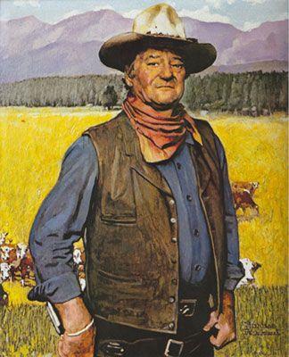 Norman Rockwell,  John Wayne Fine Art Reproduction Oil Painting