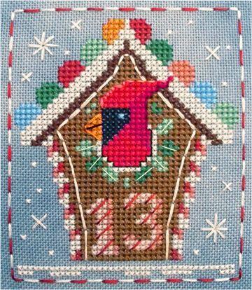 #13 Colin Cardinal of the Brooke's Books Advent Animals Freebies Cross Stitch Collection by Brooke Nolan. http://www.craftsy.com/user/1333992/pattern-store?_ct=fhevybu-ikrdql-fqjjuhdijehu  #crossstitch #brookesbooks #adventanimals