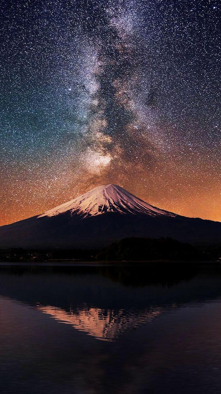 Volcano night sky iPhone 6 wallpaper + more free