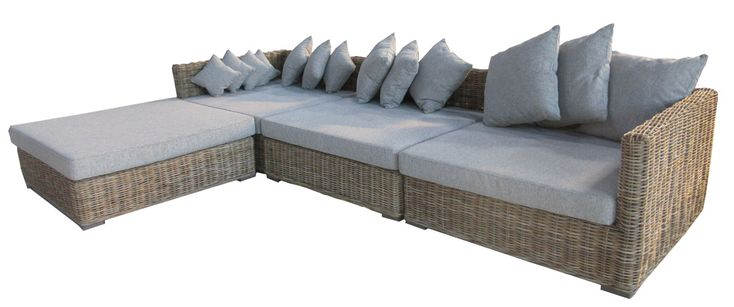 Louise Set natural Kubu Cane outdoor undercover Patio comfort