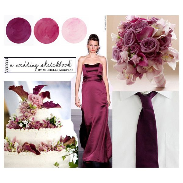 Sangria * Wine, Mauve, Dusty Pink Wedding Colors | Unique Wedding Invitations & Wedding Ideas by Michelle Mospens found on Polyvore
