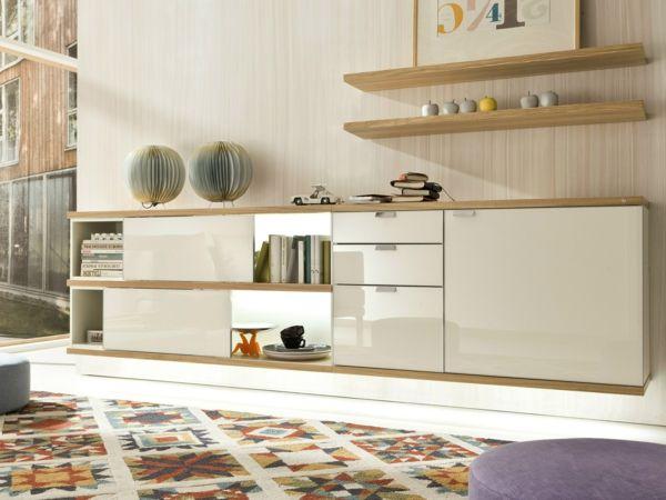 höngendes sideboard modern funktional beige