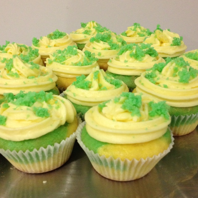Australia Day Coconut & Lime Cupcakes!
