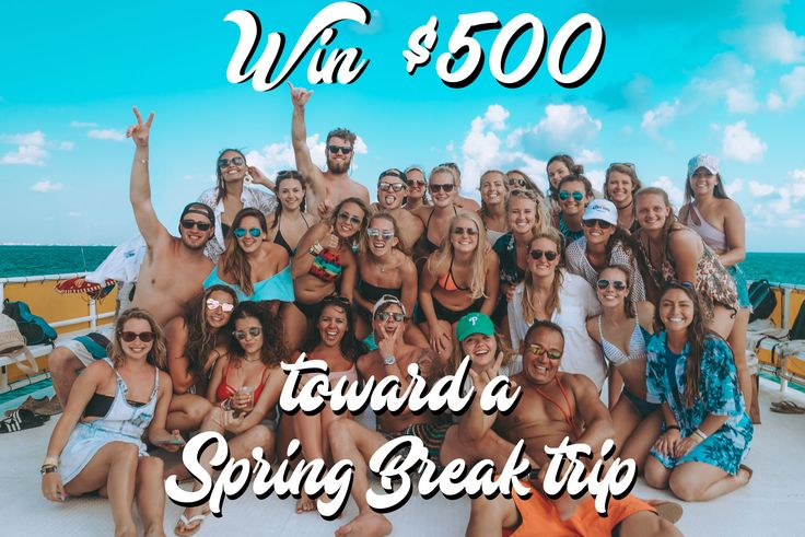 You could win $500 toward a Spring Break trip with Go Blue Tours! Check out our Instagram @gobluetours for more details