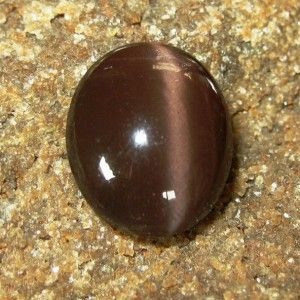 Reddish Brown Spectrolite Cat Eye 6.80 carat