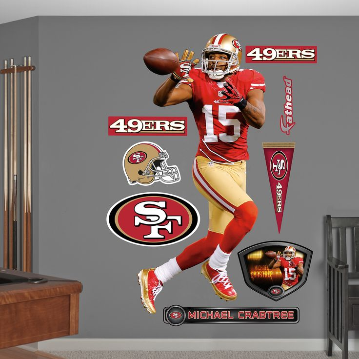 Michael Crabtree Wide Receiver San Francisco Ers Fat Head - Yadier molina wall decals
