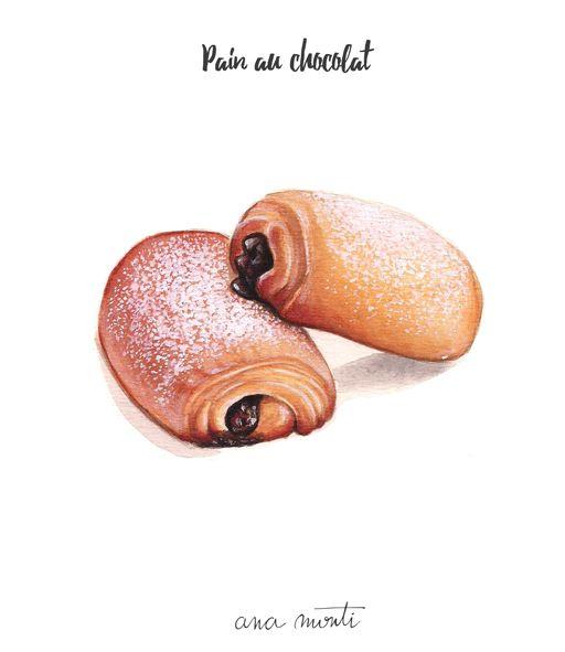 Pain au Chocolat illustration - Ana Monti