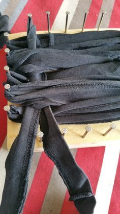 DIY tawashis le tissage des bandes de tissu