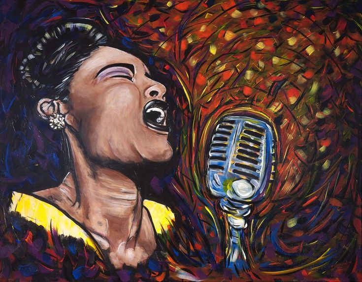 ARTFINDER: I Gotta Right To Sing The Blues. (Bil... by DASMANG    (Gary Aitken ) - Billie Holiday is the first artist portrayed in the (Jazz Divas) series. I have tried to capture Billies hauntingly beautiful voice in this tribute to a musi...