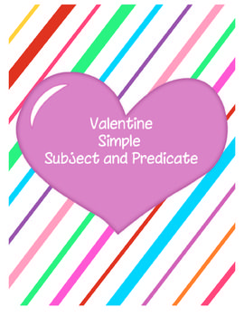 "Get your students ""sweet"" on practicing simple subject and predicate with this great activity. There are 18 sentences and 18 matching simple subject and predicate puzzle pieces. A recording sheet is also included for students to record their answers. This would make a great center"