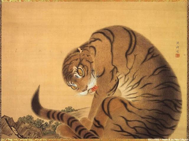 (Japan) Tiger by Ito Jakuchu (1716- 1800).