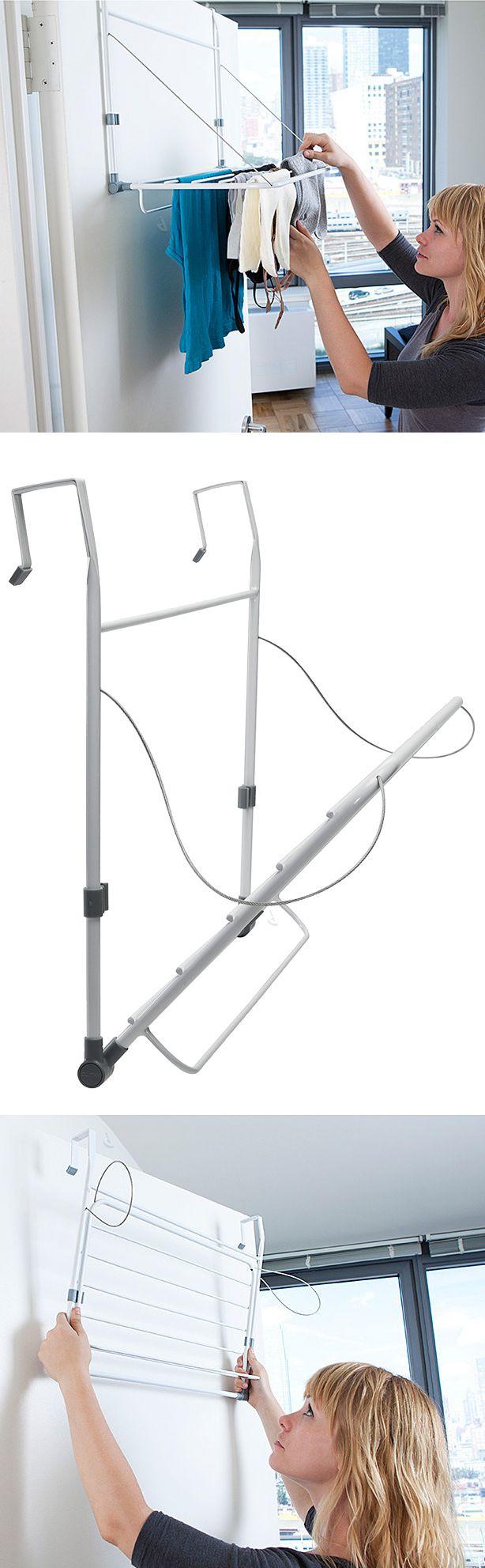 Slimline Over The Door Drying Rack Genius Idea For The