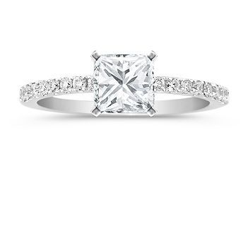 Micro Pave Band With Carat Princess Cut Center Stone Am I The Only That Prefers Small Rings