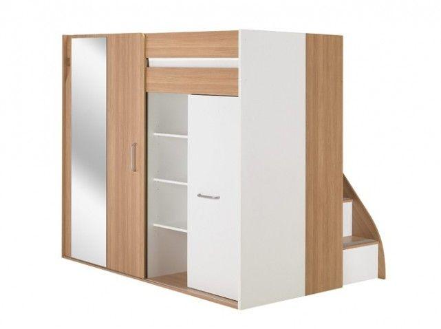 80 lits mezzanine pour gagner de la place lit. Black Bedroom Furniture Sets. Home Design Ideas
