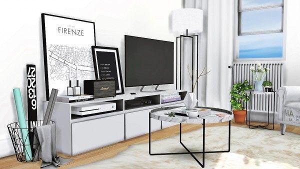 Mxims firenze livingroom sims 4 downloads sims 4 for Ikea firenze