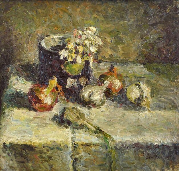 poboh:    Still life with garlic, Jan Zrzavý. Czech (1890 - 1977)