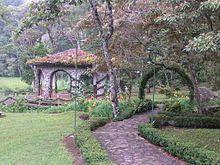 Nicaragua - gazebo of Selva Negra Mountain Resort in Matagalpa