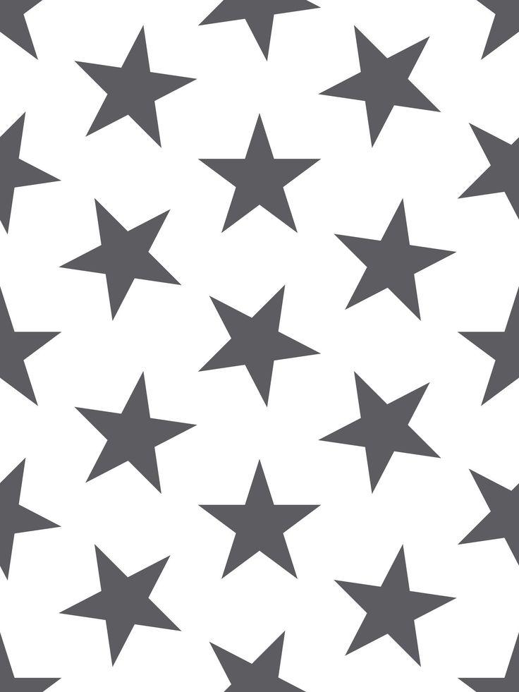 Lucky Star Wallpaper in Charcoal by Sissy + Marley for Jill Malek | BURKE DECOR