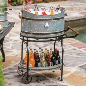Sam's Club - Copper Band Beverage Tub with Rolling Stand (Assorted Colors)