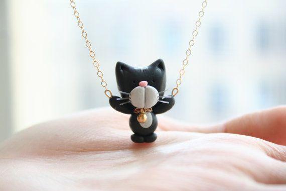 Milo la collana di attaccatura del gatto -14 k Gold filled-
