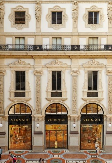 New Versace Boutique In The Heart Of Milan
