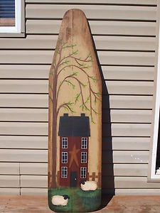 Image detail for -Primitive Hand Painted Wooden Ironing Board | eBay