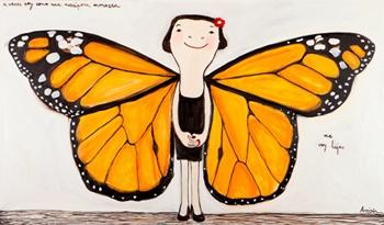 a veces soy como una mariposa monarca