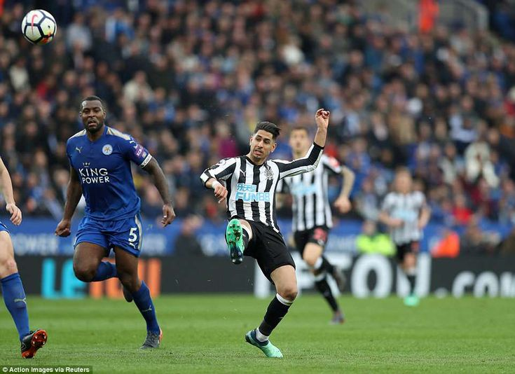 Perez doubled Newcastle's lead in the second half but Leicester striker Jamie Vardy pulled one back to set up nervous finale