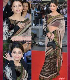 Buy Bollywood Replica Aishwariya Rai Net Saree aishwarya-rai-saree online