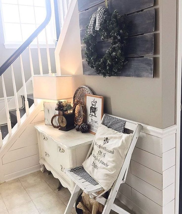 Pretty Inviting Entrance By Theothersideofneutral Are You Guys Still Loving Shiplap Get Featured Use Shabby Chic FarmhouseVintage FarmhouseUrban