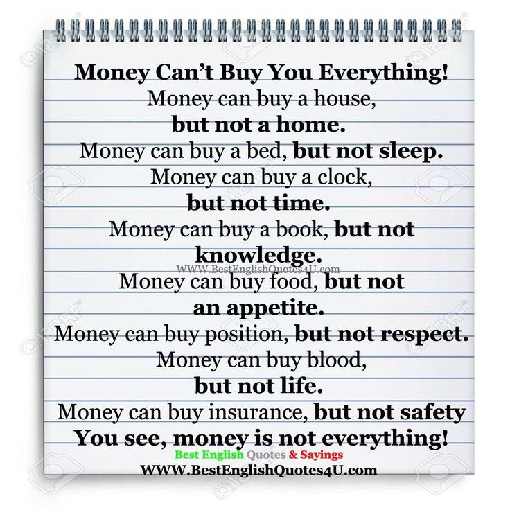 Money Can't Buy You Everything! | Best English Quotes & Sayings