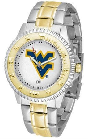 West Virginia Mountaineers Men's Two Tone Dress Watch by SunTime. $86.95. Links Make Watch Adjustable. Men. Gold Ion-Plated Bezel-Date Function. Officially Licensed West Virginia Mountaineers Men's Two Tone Dress Watch. Two-Tone Stainless Steel. West Virginia Mountaineers men's two tone gold and stainless steel dress watch. This Mountaineers timepiece offers men a classic, business-appropriate look. Features a gold ion-plated bezel, stainless steel case and date function. ...