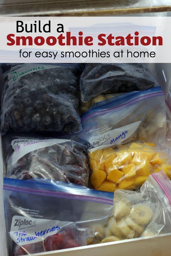 Bauen Sie eine Smoothie-Station für einfache Smoothies zu Hause   – Yummm!