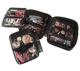 Lori Greiner cosmetic organizer. QVC. You get 2 sizes for $29.16. In 5 color options. Totally amazing!!