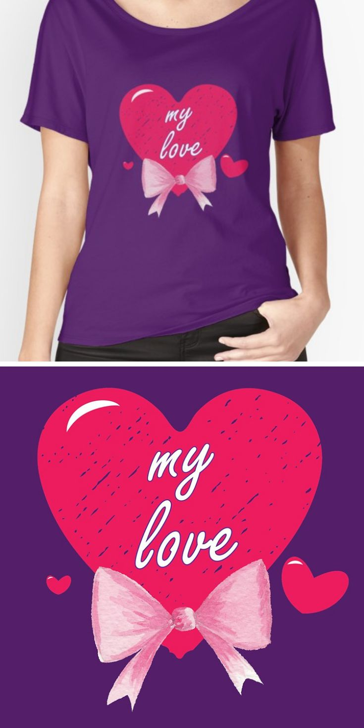 Cute Valentine Shirt For Her decorated with heart