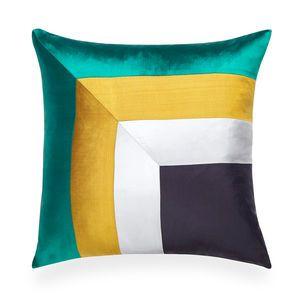 Jonathan Adler Emerald Siam Borders Throw Pillow