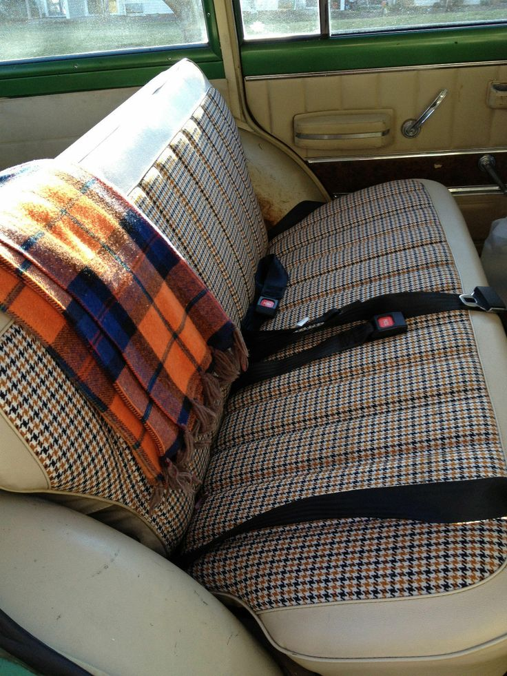 17 Best Images About Vintage Plaid And Hounds Tooth Auto Upholstery On Pinterest Upholstery