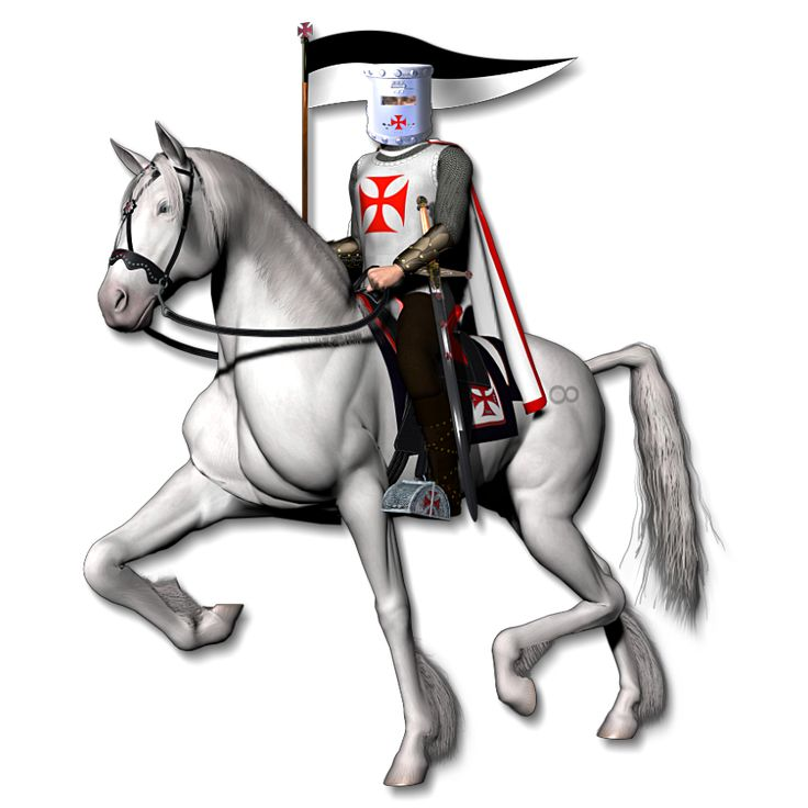 Knight On Horse Clip Art | Knights Templar Graphics #2 ...