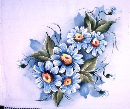 Margarida Azul   Artesanato na Rede