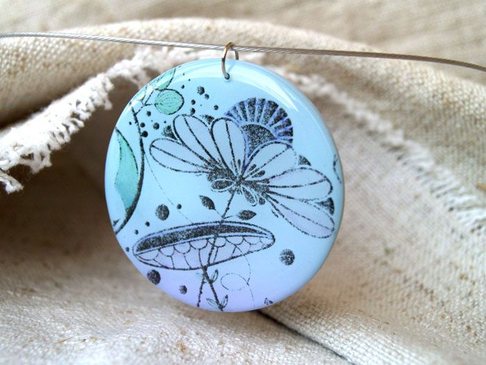 jewlery, polymer, clay, pendant, resin