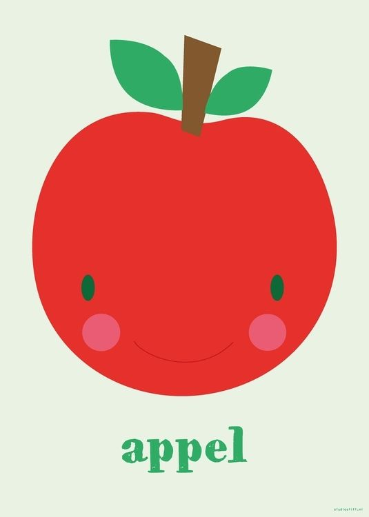 Lovely #appel #apple #poster 50x70 by Studio Stift from www.kidsdinge.com LOVE IT ! https://www.facebook.com/pages/kidsdingecom-Origineel-speelgoed-hebbedingen-voor-hippe-kids/160122710686387?sk=wall
