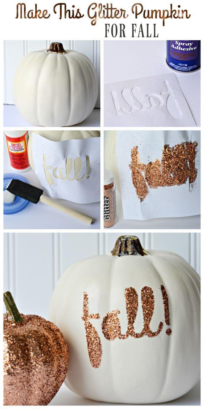 DIY: Glitter Pumpkins for Fall