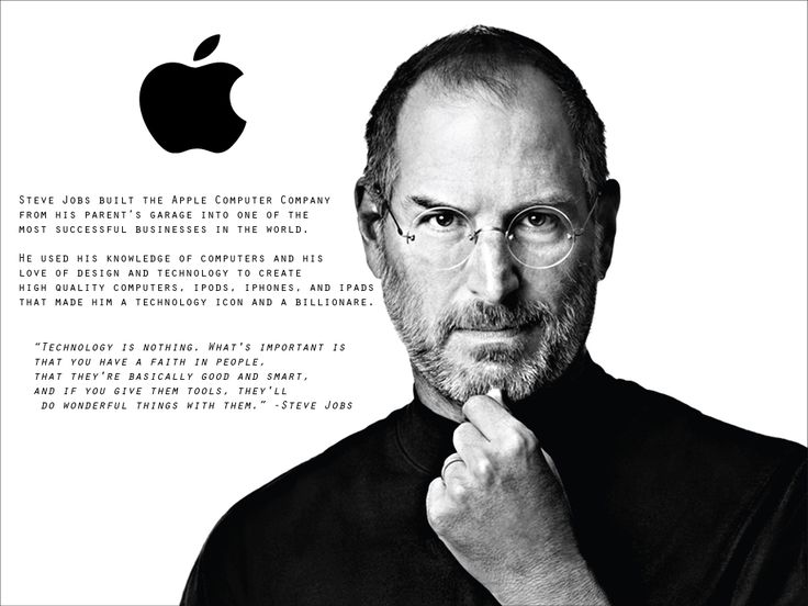 Steve Jobs, STEM Poster, BIO and information with Quote. Made for ...