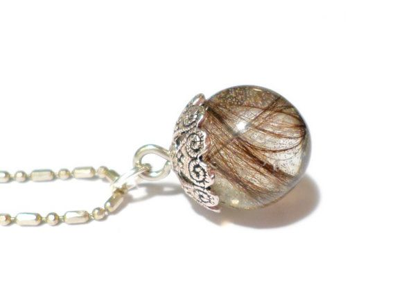 Orb Sphere Custom Hair Lock Resin Keepsake Pendant 14mm