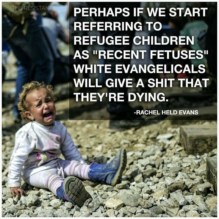 Ok. I know I shouldn't laugh, because refugee children are a serious matter, but I think they've got a point here.
