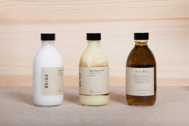 A minimal graphic design for 'Beige' branding