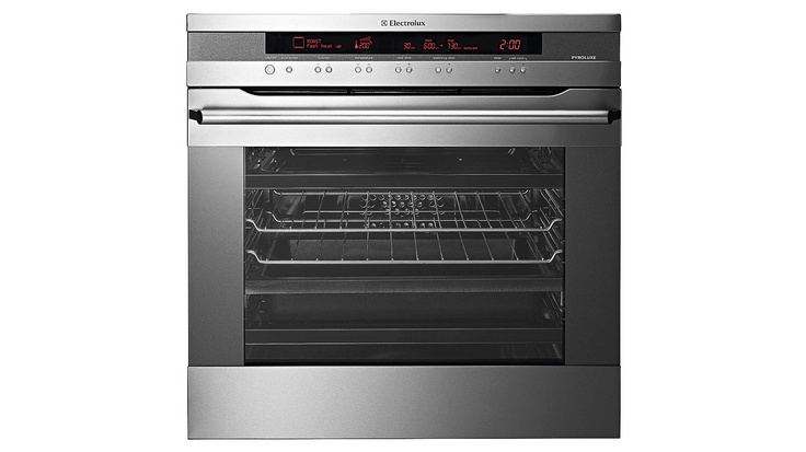Electrolux E:line Pyrolitic Oven    Effortless cleaning, stylish flat stainless steel design and a huge 80 litre gross oven capacity for easy entertaining.