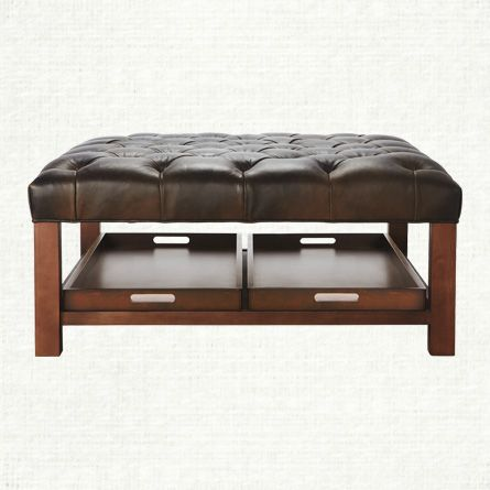 Handsome and hardworking, this indispensable ottoman is a welcome addition to a range of spaces. A sleek, understated silhouette offers a timeless, t